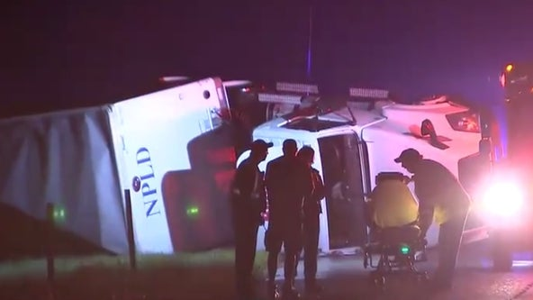 Tractor-trailer overturns as Post-Tropical Cyclone Nestor brings strong winds to Central Florida