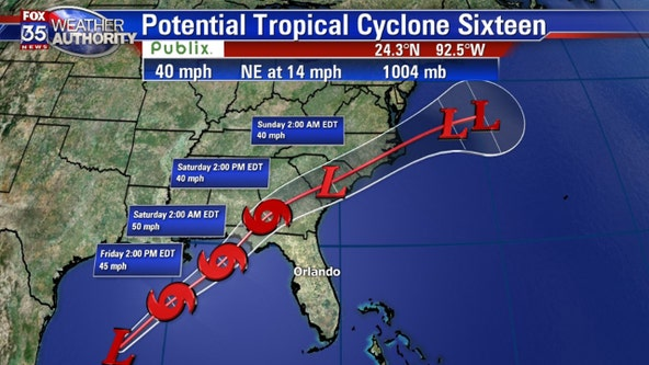 Tropical Storm Nestor expected to form, warnings issued for parts of Florida