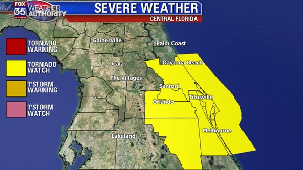 Post-Tropical Cyclone Nestor: Tornado watch extended to 2:00 p.m. for Central Florida counties