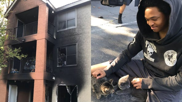 6 cats rescued after fire breaks out at Winter Park apartment complex