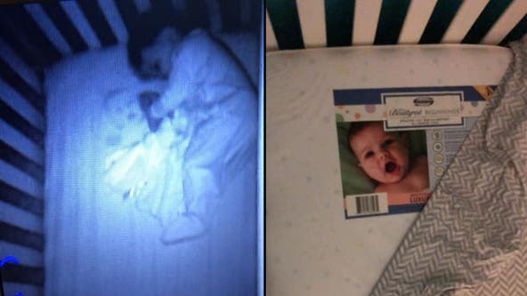 Mom spots terrifying 'ghost baby' in son's crib; says she 'could kill' husband after learning cause