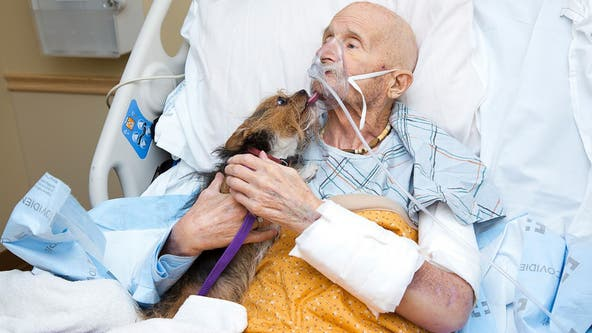 Vietnam Marine veteran in New Mexico hospice care reunites with beloved dog one last time