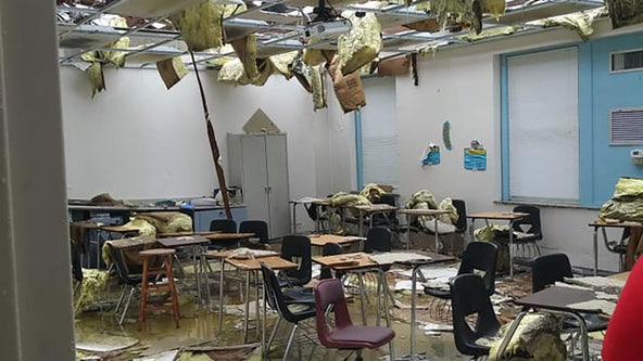 Crews scramble to repair Kathleen Middle School, replace supplies