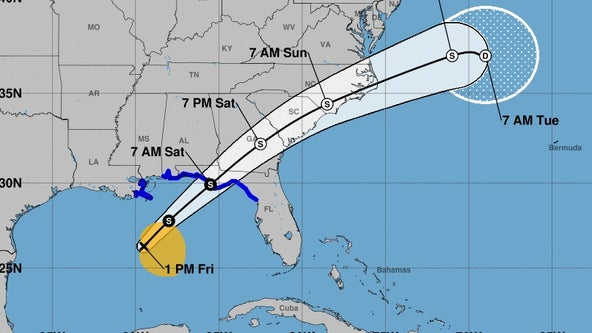 Tropical Storm Nestor forms, heads toward Florida panhandle