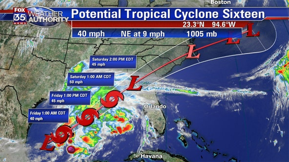 Storm moving northeast across Gulf of Mexico could soon become Tropical Storm Nestor