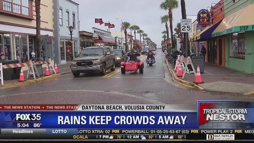 Weather keeps crowd away during Biketoberfest