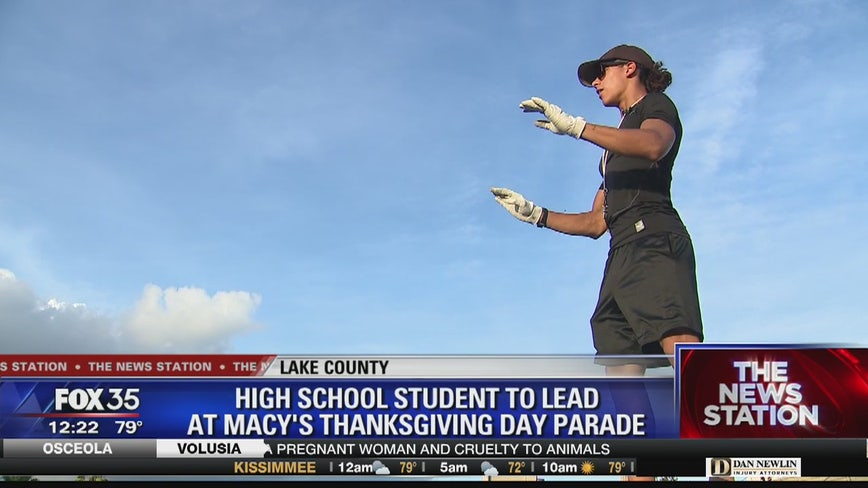 Leesburg HS drum major going to Macy's Thanksgiving Parade