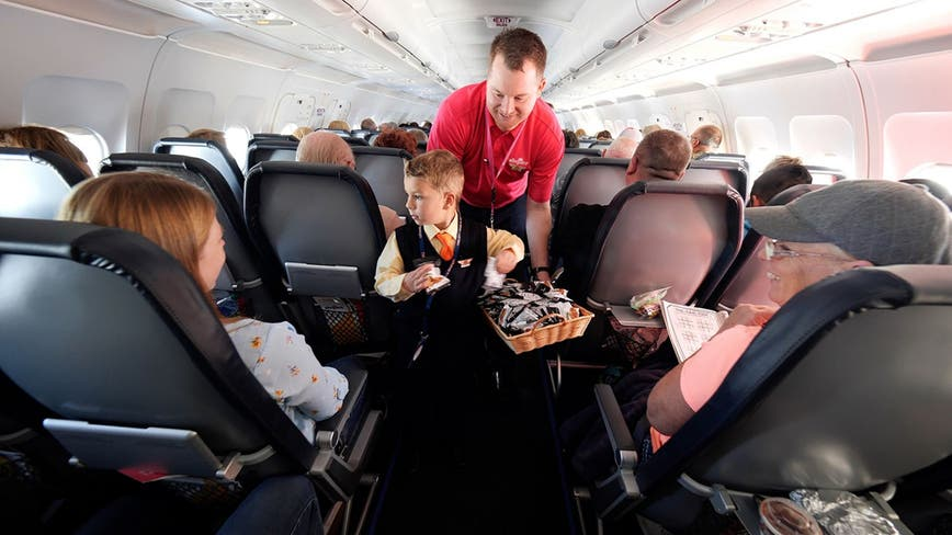 Allegiant Air names boy, 5, an 'honorary flight attendant' on Make-a-Wish trip