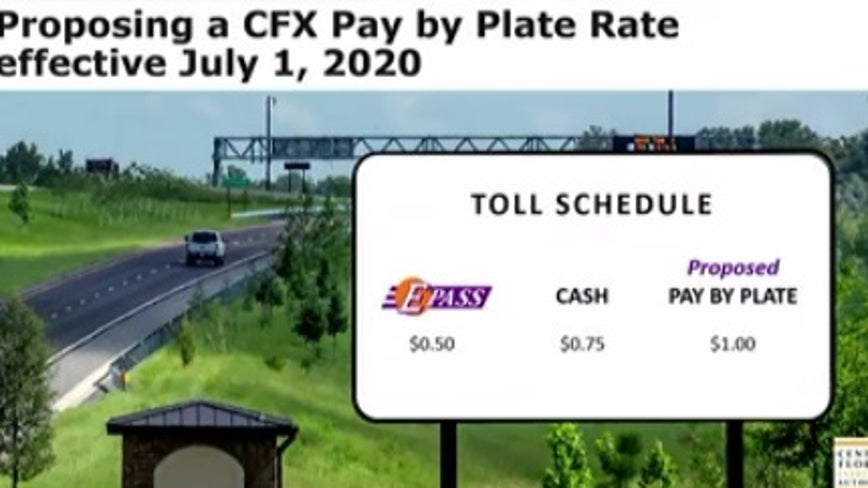 Pay-by-plate customers will see toll increase next summer