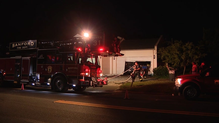 Veteran's home catches fire in Sanford
