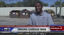Singing sanitation worker takes the stage after sundown