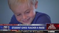 Student gives teacher a raise