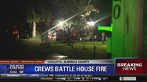 Crews battle house fire in Chuluota