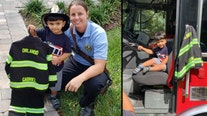 Orlando boy who frequently visits fire department receives his very own gear for his birthday