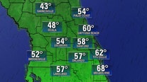 Central Florida to experience its coldest day since March as an Arctic front will sweep through