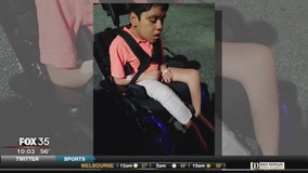 Mother of disabled boy says school's physical therapist broke his femur