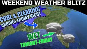 Rain chances are in later today and out just in time for the weekend!