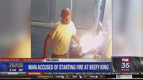 Man accused of starting fire at Beefy King restaurant