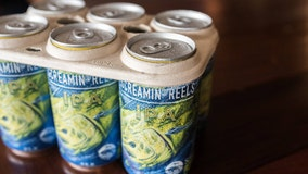 Saltwater Brewery makes biodegradable six-pack rings from its own grain