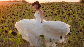 Widow, 29, poses in wedding dress every year in memory of late husband