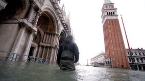 Venice hit by record third exceptional tide in a week; other parts of Italy struggle with weather woes