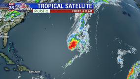 Tropical Storm Sebastien becoming less organized