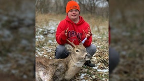 Minnesota hunter, 19, with Down syndrome bags his first buck