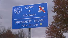 Adopt a Highway sign shows love for President Trump in Fairfax County