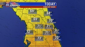 After a cold weekend, Central Florida temps start rising today with more sun!