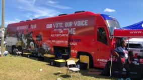 Amendment Four bus tour registers voters at Florida Classic