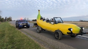 Police: Officer pulls over man driving banana car, gives him $20 instead of a ticket