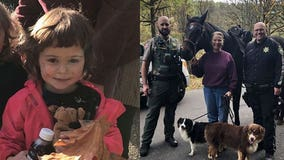 Toddler lost in Oregon wilderness found safe by woman on horseback and her dog