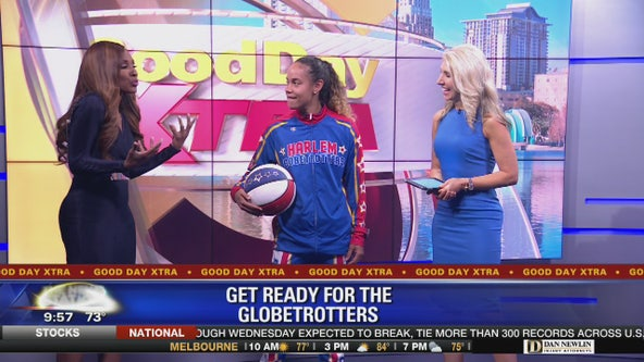 Getting ready for the Globetrotters