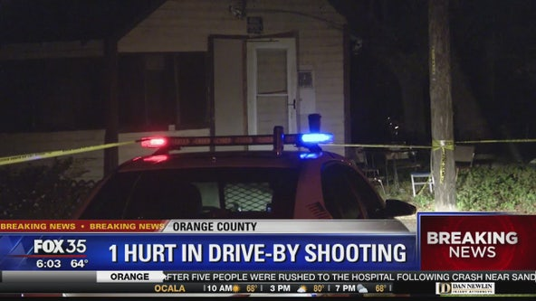 1 hurt in drive-by shooting