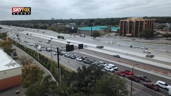 Traffic shift at Maitland ramp creates backups along Interstate 4