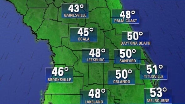 Rainy start to the weekend before the coldest temperatures of the season hit Central Florida