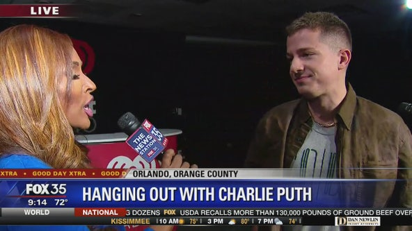 Hanging out with singer Charlie Puth