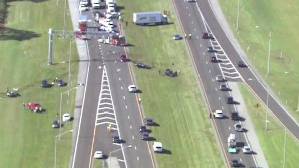 Major crash blocks northbound lanes on State Road 417 near Lake Nona Boulevard