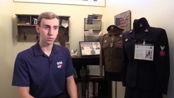 Not your average World War II history buff: Teen interviews veterans, collects artifacts for traveling museum