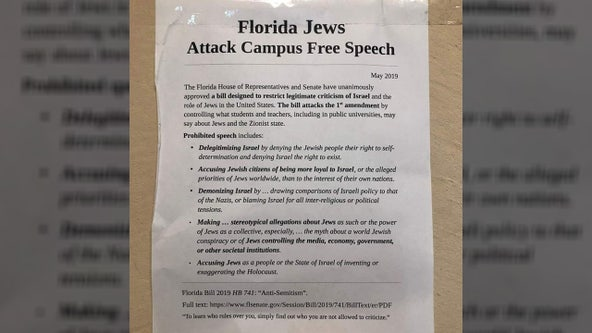 'Hate has no place at UCF': Police investigate anti-Semitic flyer posted around campus