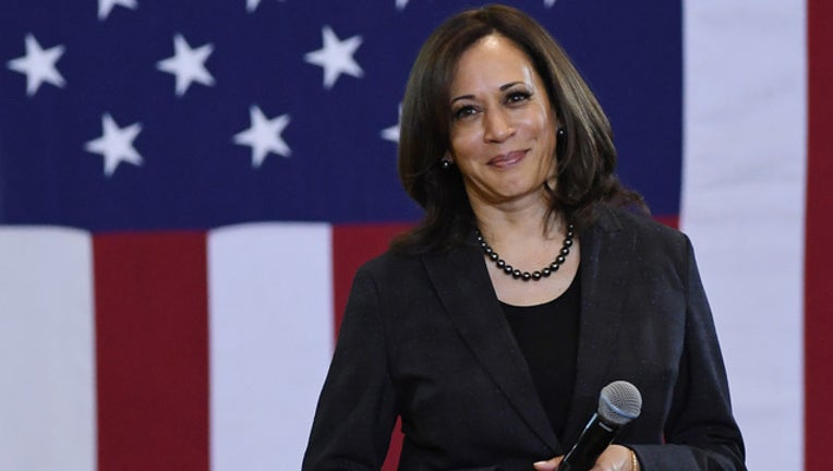 U.S. Sen. Kamala Harris (D-CA) takes a question during a town hall meeting at Canyon Springs HS on March 1, 2019 in North Las Vegas, Nevada. Harris is campaigning for the 2020 Democratic nomination for president. (Photo by Ethan Miller/Getty Images)
