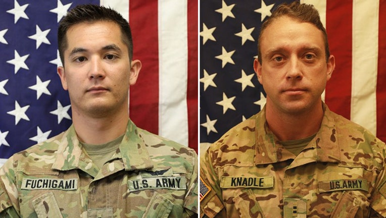 Chief Warrant Officer 2s Kirk T. Fuchigami Jr. and David C. Knadle (Department of Defense)