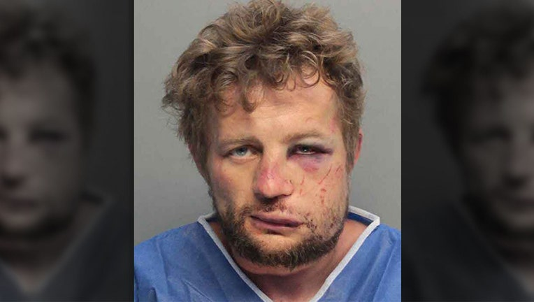A Florida man opened the front door of his home and that is when he was attacked, court records say.