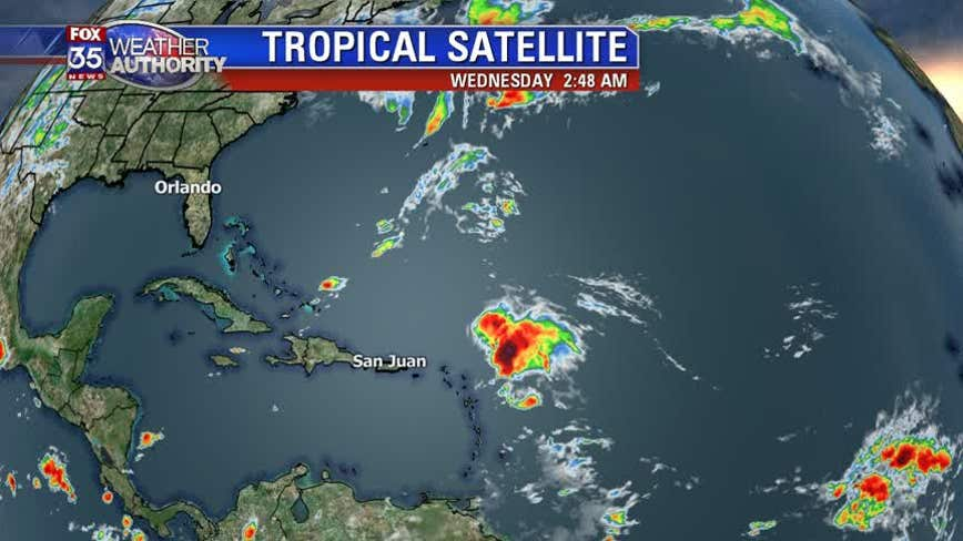 Tropical Storm Sebastien grows slightly stronger, poses no threat to land