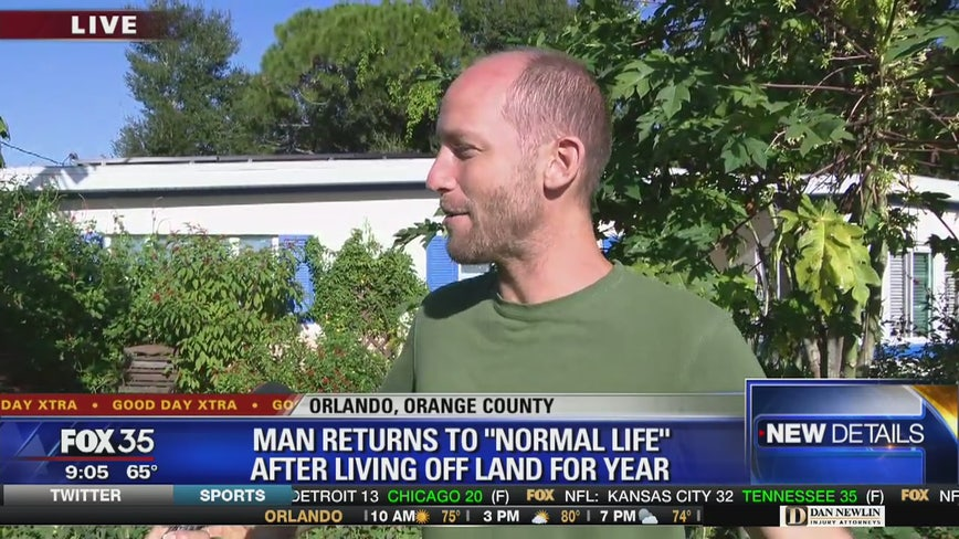 Man returns to 'normal life' after living off land for year