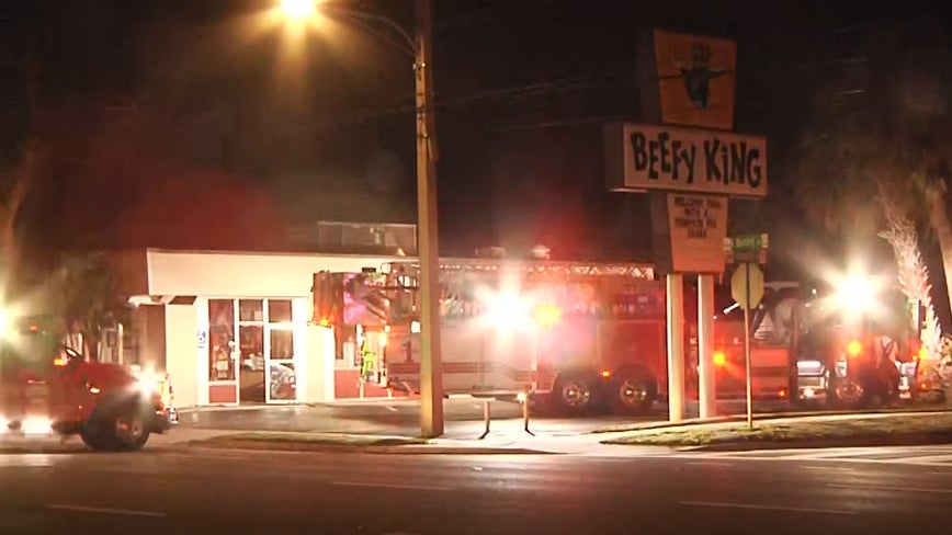 Fire breaks out at iconic Beefy King restaurant in Orlando