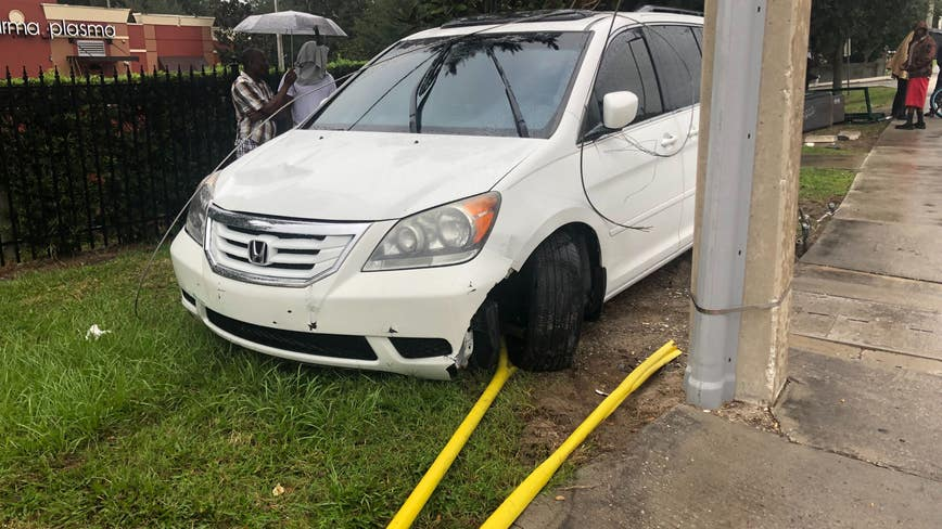 At least 2 adults, 1 child struck by car at Orlando bus stop