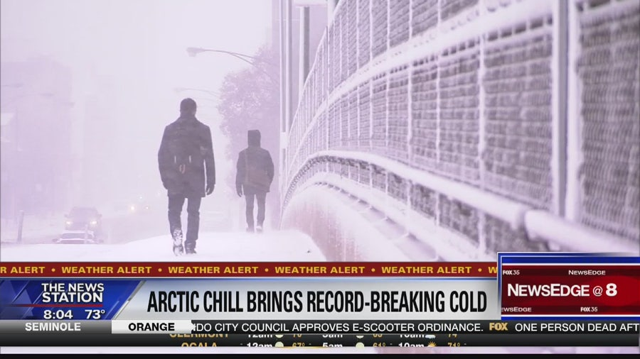 Arctic chill moving over country