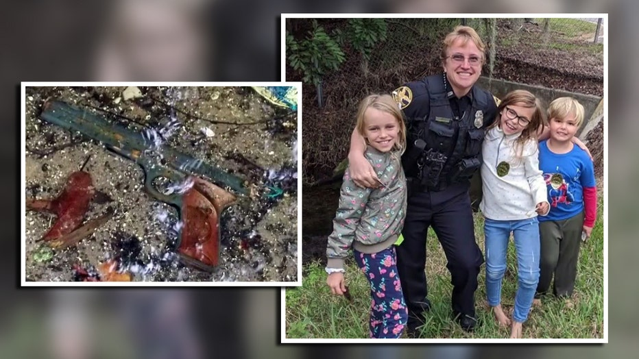 Three kids found what they thought was a revolver in a St. Pete creek. It was a BB gun, but they are being congratulated for their quick-thinking.