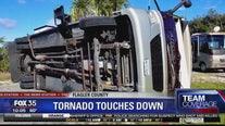 Tornado flips RV in Flagler County